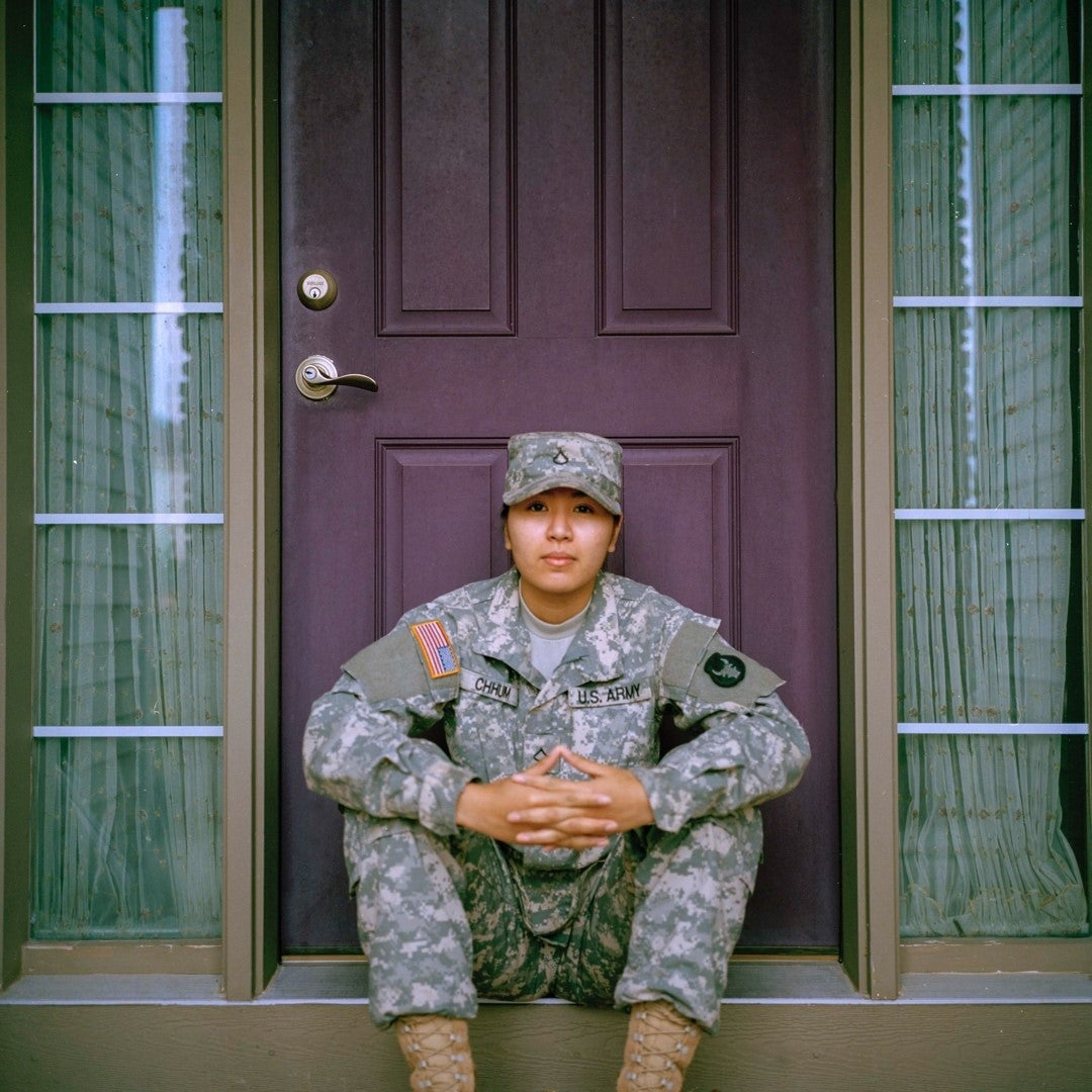 A servicemember prepares for life after the military