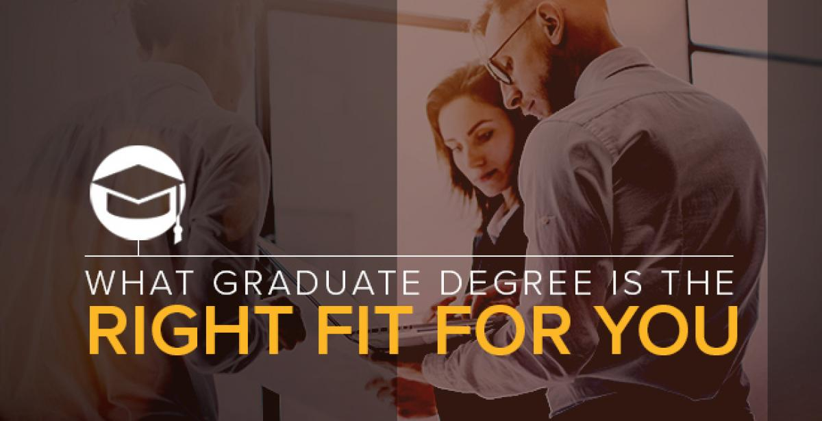 What Graduate Degree Is The Right Fit For You?